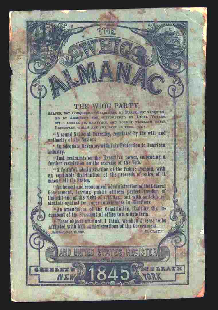 Tona Research Committee  Private Publications Front Cover  Whig Almanac